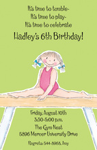 Pixie Gymnastic Girl Invitation