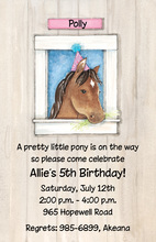 Pretty Birthday Pony Invitation