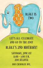 Elephant Dumbo Drop Invitation