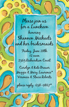 Turquoise Tapestry Invitation