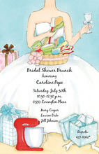 Bride Receiving Kitchen Supplies Invitation