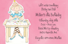 Bead Me Up Pink Pixie Invitation