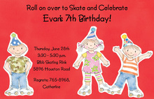 Kids Skate Around Invitations