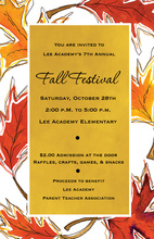 Bright Yellow Fall Leaves Invitation