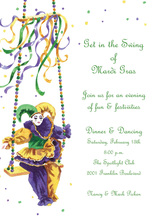 Mardi Gras Doll Invitation