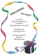 Magical Ribbon Hat Invitation