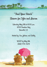 Enjoy Oceanside View Invitations