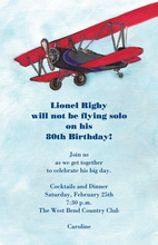 Classic One Engine Airplane Invitations