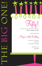 Dazzling Her Big Deal Birthday Cake Invitations