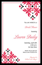 Well Red Corner Invitations