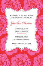 Rose Garden Frame Invitations