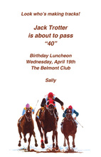 Race Horse Jockey Club Invitations