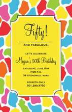 Multi Colored Wild Animal Invitation