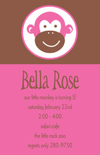 She's a Monkey Kids Invitation