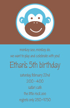 He's a Monkey Kids Invitation