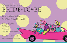 Driving Away Night Out Party Invitations