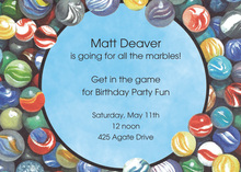 Kids Gaming Marbles Invitations