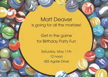 Bright Marbles Invitations
