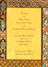Classic Stylish Moroccan Invitations
