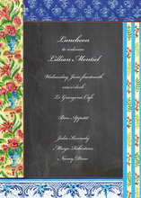 Artistic Parisian Border Invitations
