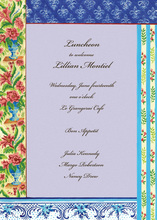Parisian Fashion Border Invitations