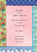 Parisian Floral Pattern Invitations