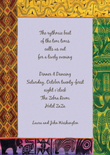 Southern Africa Style Invitations