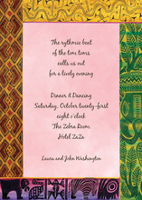 African Ancestry Border Invitations
