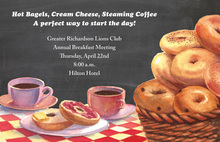 Bagels Coffee Chalkboard Invitations