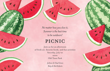 Watermelon Slices Summer Invitations