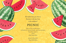 Juicy Watermelon Invitations