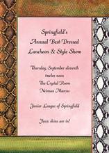 Pink Faux Snake Skins Invitations