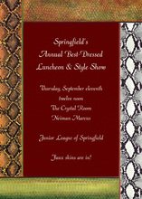 Red Faux Snake Skins Invitations