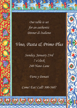 Italian Pottery Stylist Invitations