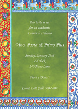 Italian Lifestyle Party Invitations