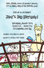 Animal Petting Zoo Invitations