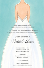 Down The Aisle Bridal Shower Invitations