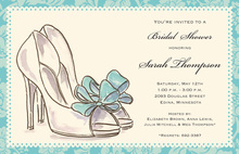 Contemporary Luxury Bridal Shoe Heels Invitation