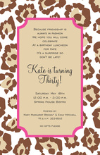 Soft Leopard Border Invitations
