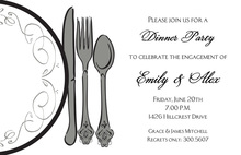 Featuring Dinner Classic Plate Invitation