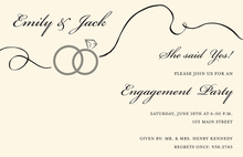 Swirl Rings Engagement Invitations