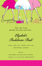 Fashionable Haute Girls Together Invitation