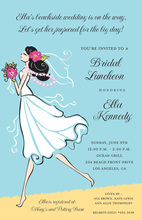 Beautiful Seashore Bride Invitations