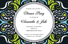 Artistic Funky Frame Design Invitation