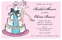 Fancy Special Cake Girl Invitation