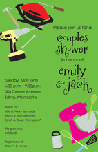 Gift Corners Couple Shower Invitations