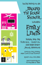 Chic House Shower Invitations