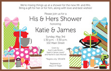 Hosting Their Favorites She He Shower Invitations