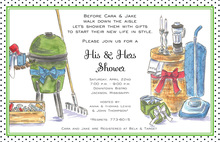 Artistic Designer Our Shower Invitations