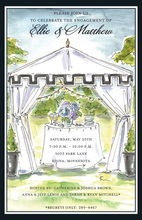 Formal Outdoor Tent Invitations